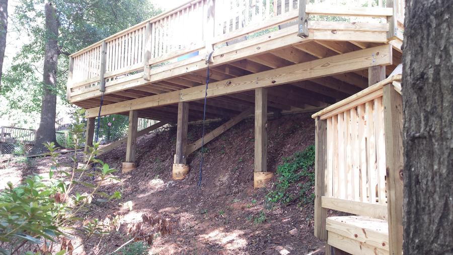 Building A Deck On Slope