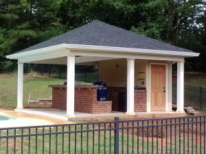Outdoor kitchen-pavilion-macon GA lr