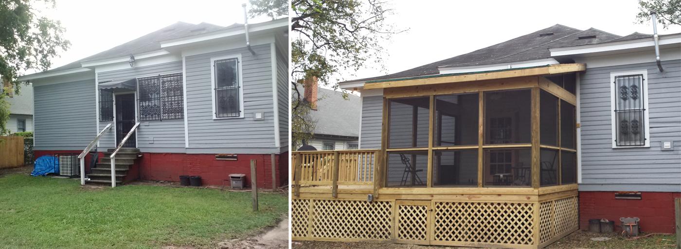 adding a screened porch to a deck sevenstonesinc com