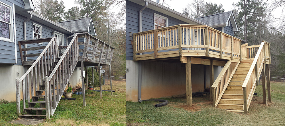 Macon deck before and after