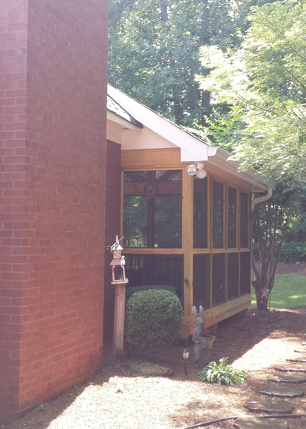 Macon GA-screen porch-matching soffit 1