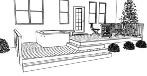 Hot tub-deck-Perry GA-design drawing 750