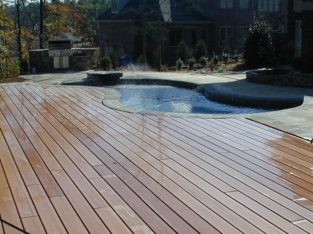 Deck-inground pool-Macon GA