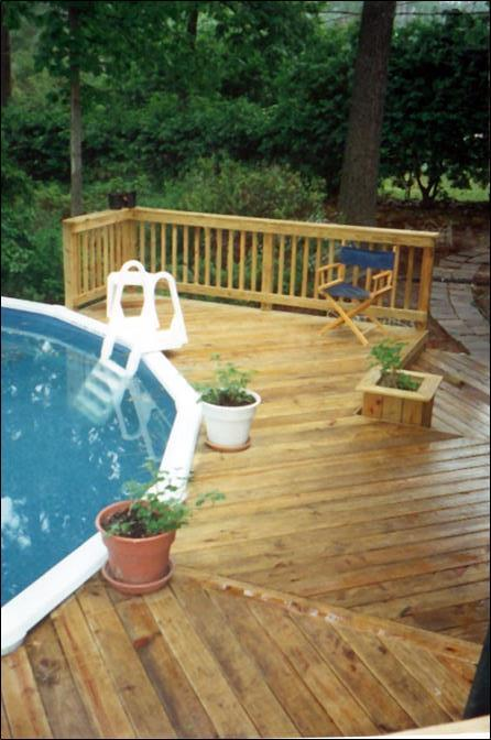 above ground pool-deck-Macon GA