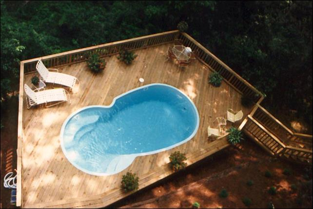 fiberglass above ground pool-deck-Macon GA