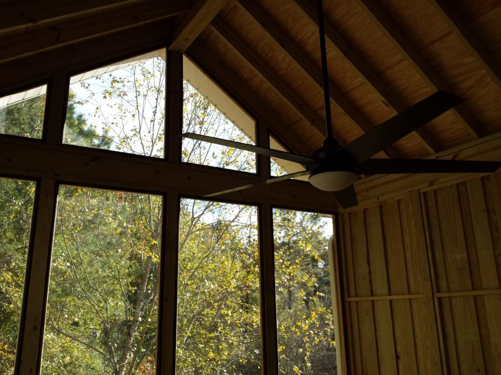 Wellington screened porch interior