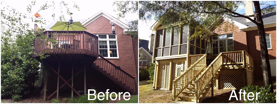 Look at the amazing before and after images of this project: