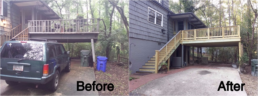 Macon Fiberon Deck before and after